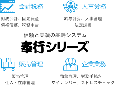 奉行シリーズ 会計税務 人事労務 販売管理 企業事務