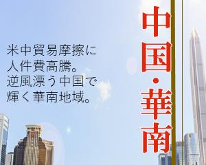 中国・華南地域 -中国事業成功のカギは、ノウハウの理解とガバナンス強化-